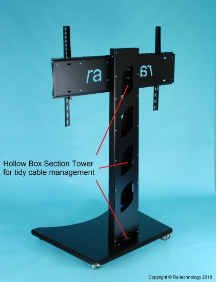"RA Atlas Manta-3. Fixed Height Trolley Stand. Screens up to 75"" - Click Image to Close"