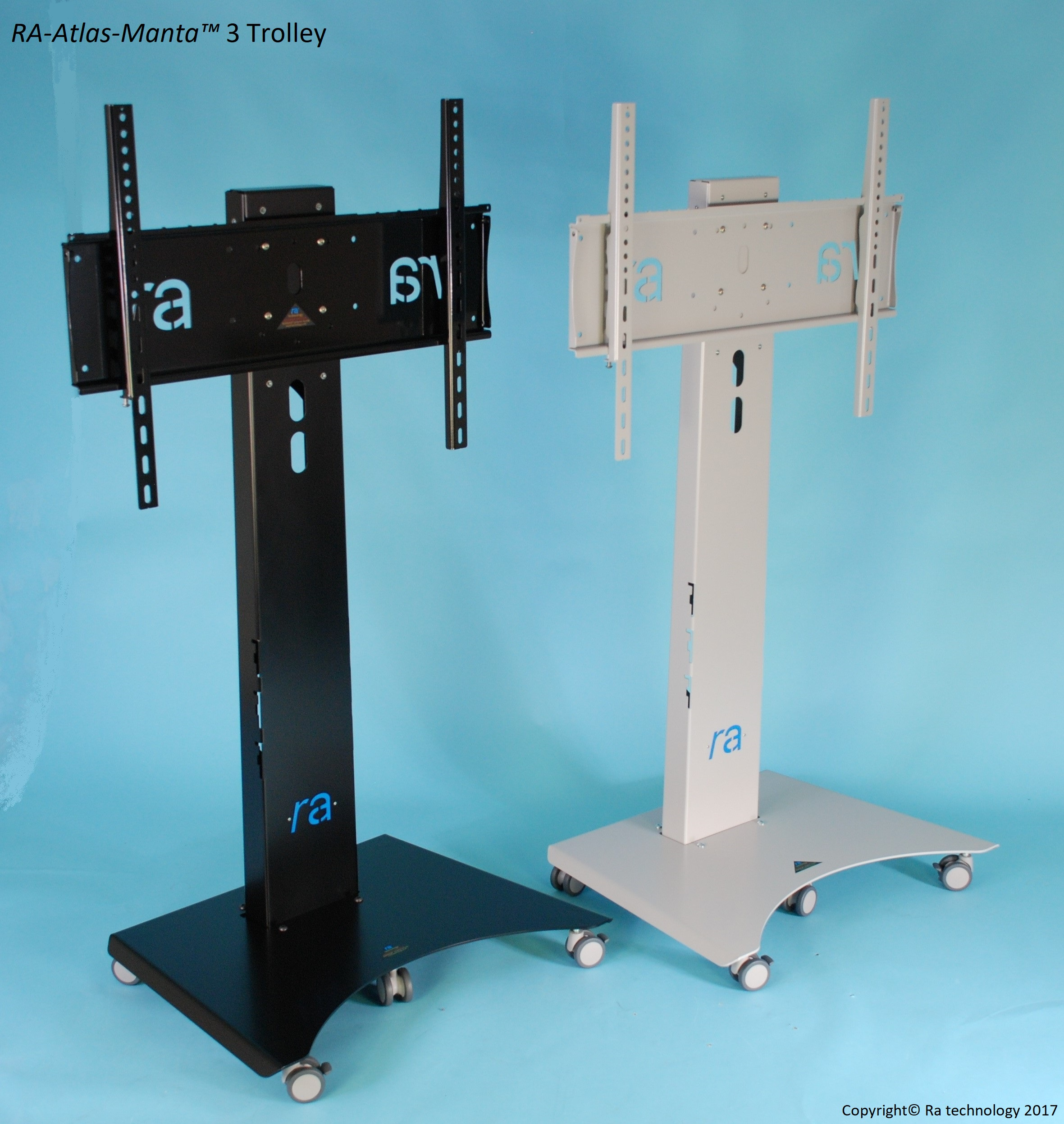 RA Atlas Manta-3. Fixed Height Trolley / Stand. Screens upto 75""