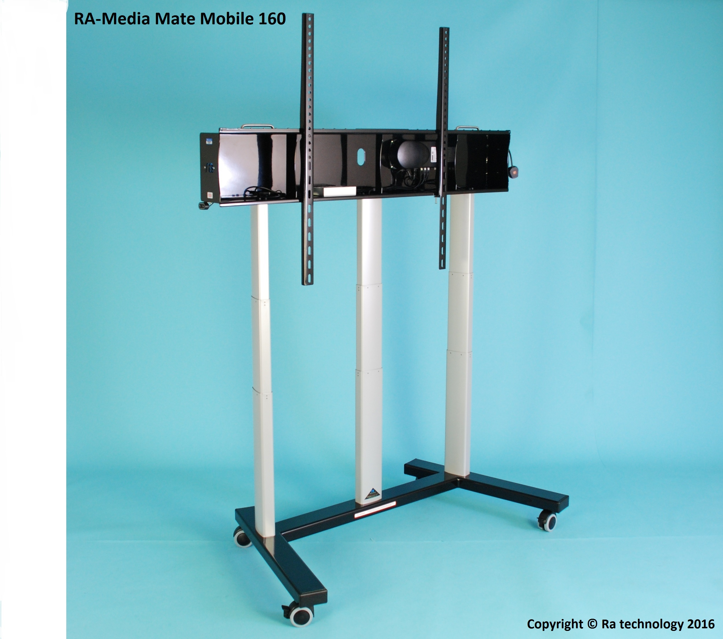 RA Media Mate Mobile 160. Electric Height Adjustable Trolley