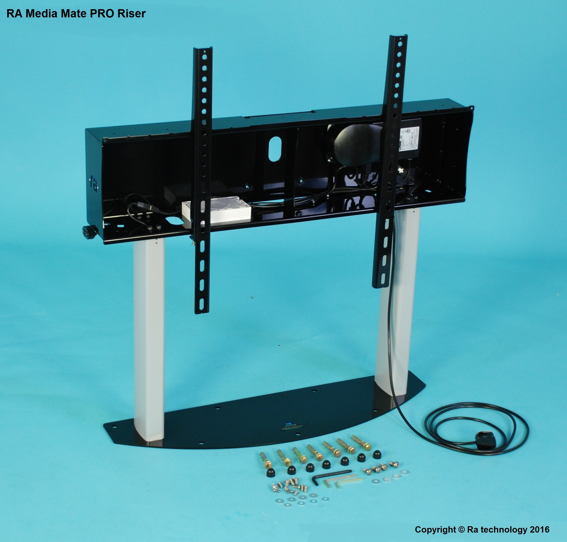 RA-Media Mate PRO Riser. Screens upto 86 inch and 120kg