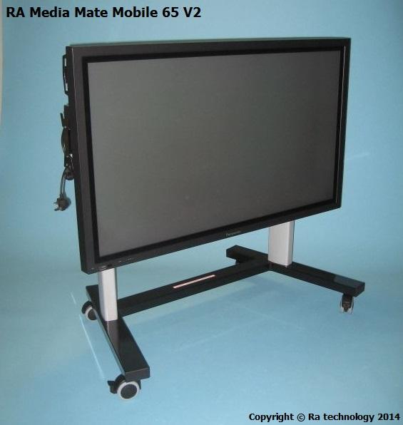 RA Media Mate Mobile 65 V2 Height Adjustable Trolley [RA