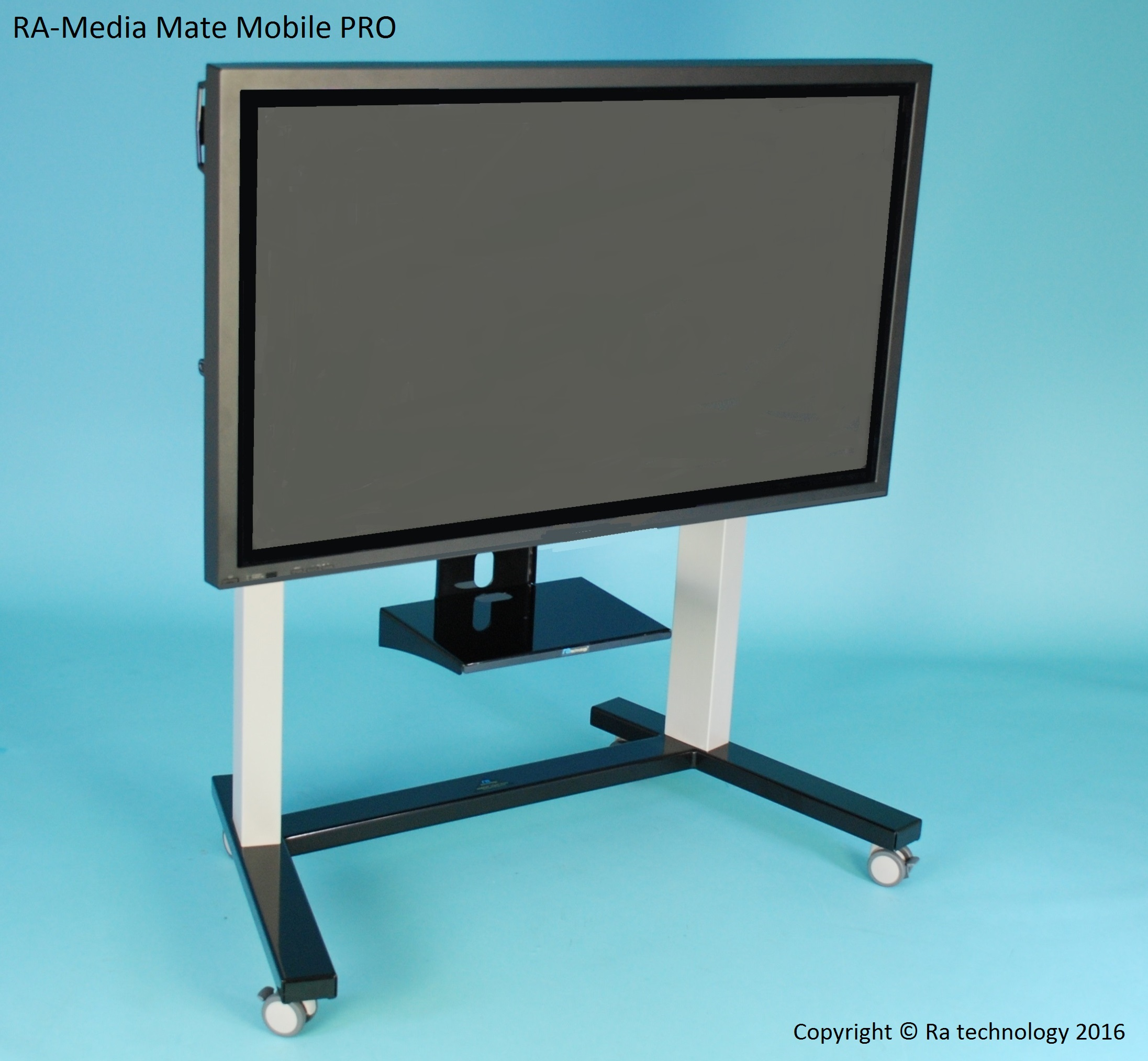 RA Media Mate Mobile PRO. Electric Height Adjustable Trolley