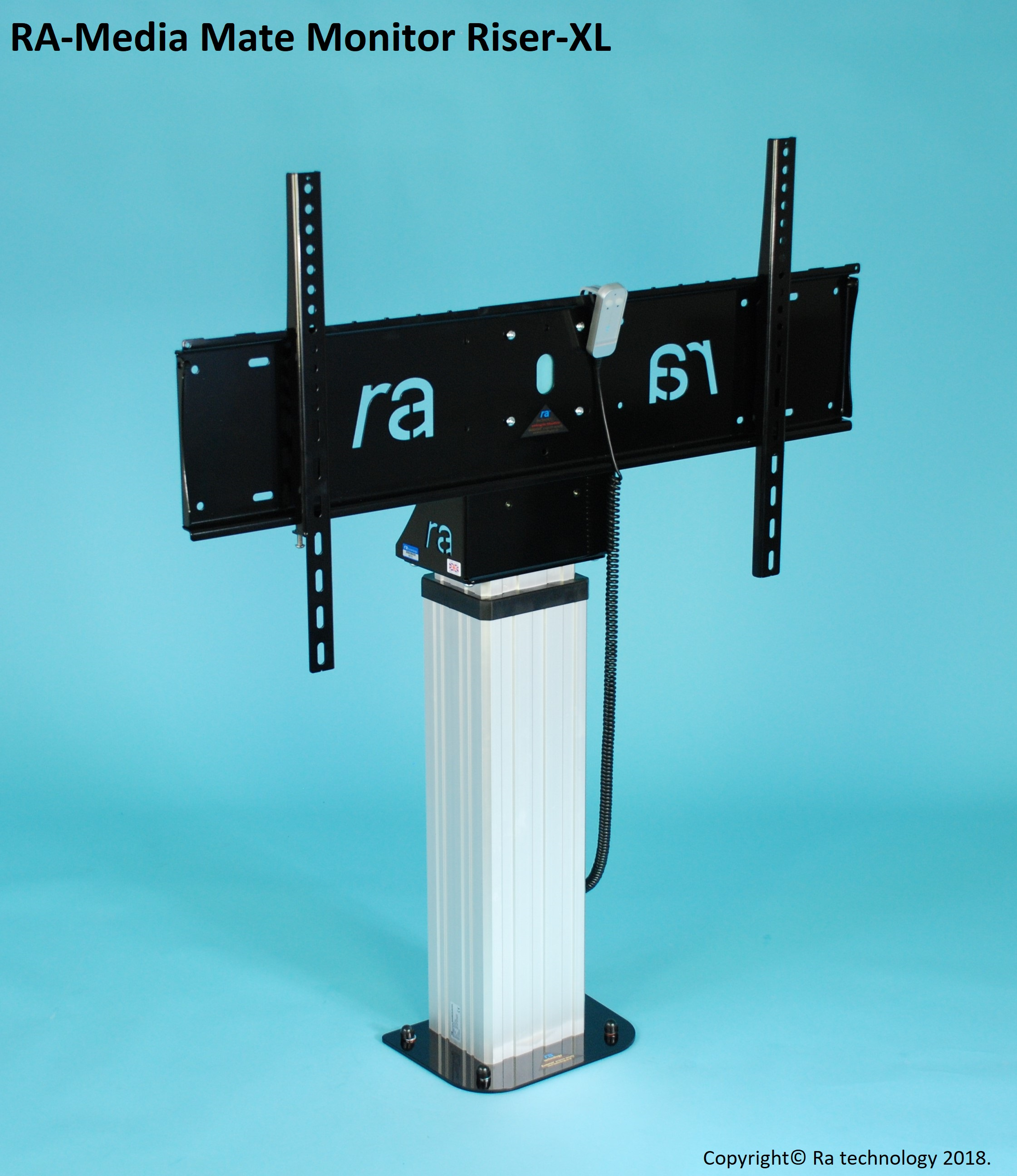 RA Media Mate Monitor Riser-XL. Screens upto 86 inch and 120kg