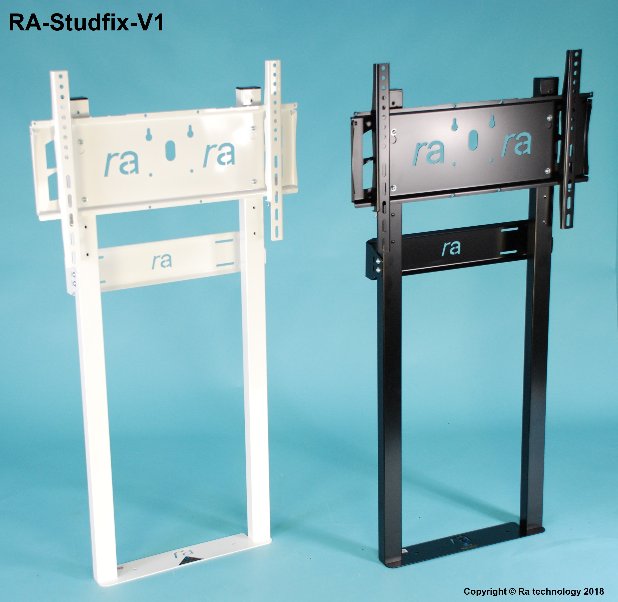 RA-Studfix-V1.Wall to Floor Mount for Flat Screens upto 65kg