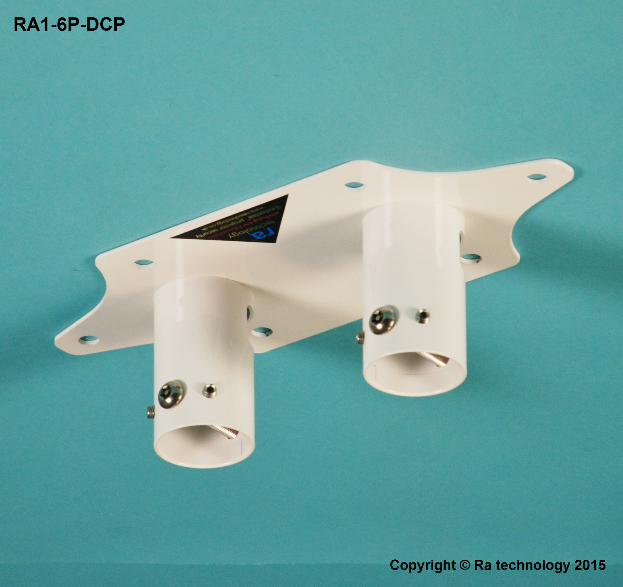 RA Double Pole Ceiling Plate with 6 point fixing.
