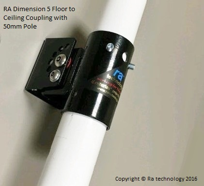 RA Dimension five VESA Mount 200x200 Single Pole. Flr to Ceiling