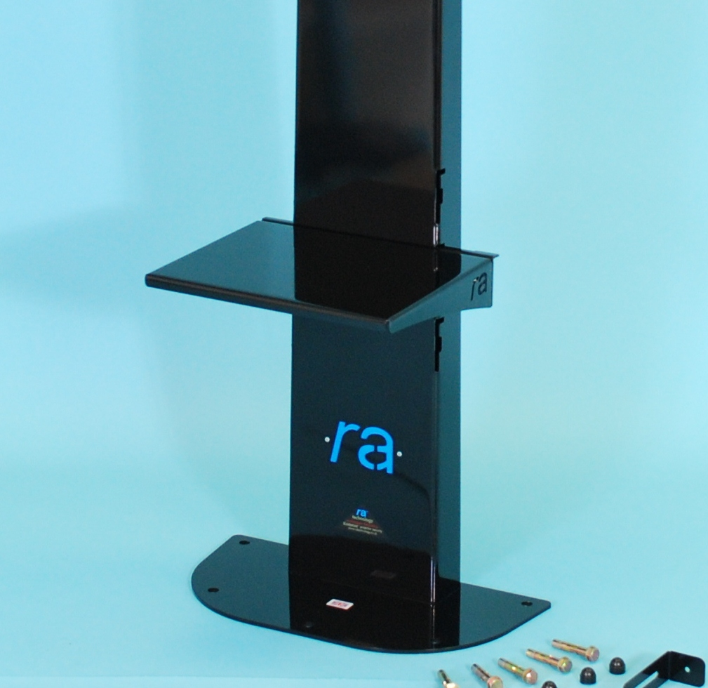 RA Atlas Flat Screen Trolley & Atlas Fixed Floor Stand Shelf